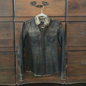 Ralph Lauren blue label women's denim shirt sz 2